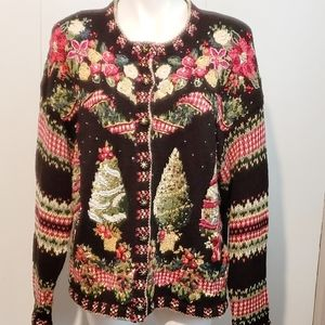 Heirloom Collectibles Christmas deluxe cardigan